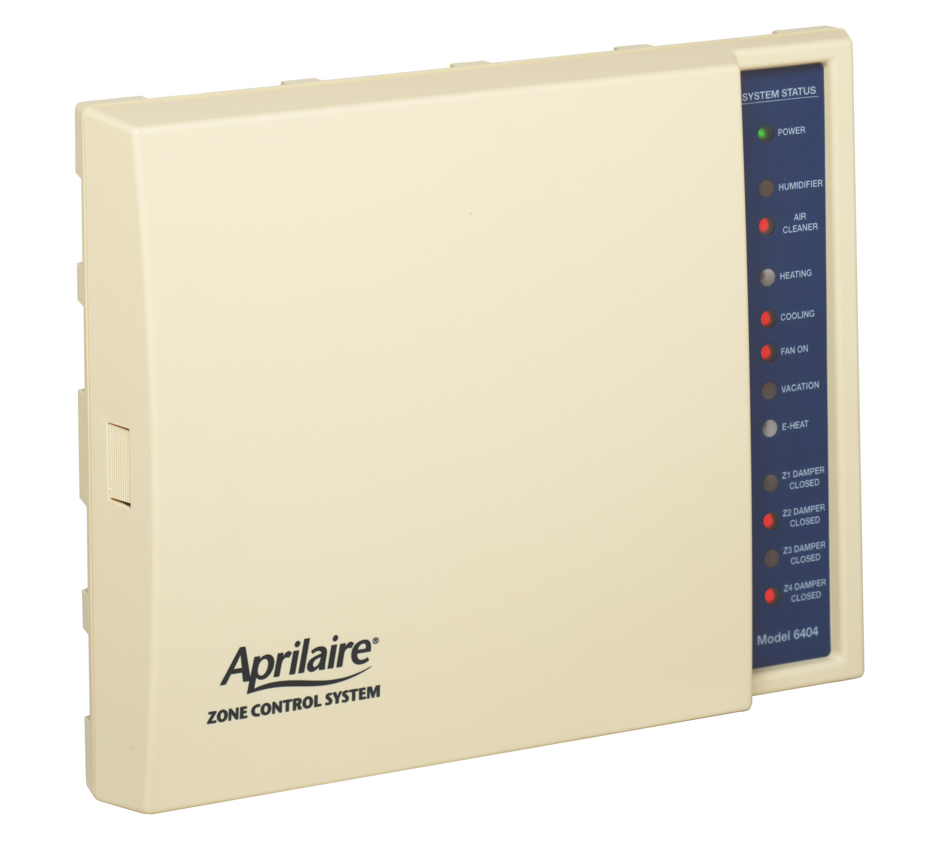 CD-6404 - Heat/Cool or Heat Pump 4 Zone Control Panel